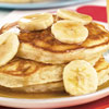 Banana Pancakes with Golden Banana Syrup