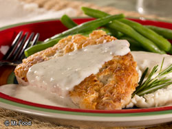 Fried Pork Chops with Cream Gravy