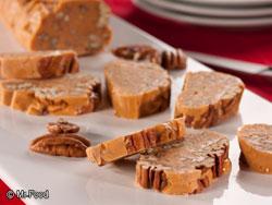 Butterscotch Yule Log Slices