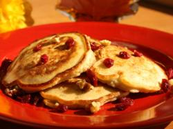 Cranberry Nut Orange Pancakes