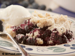 Crusty Blueberry Cobbler