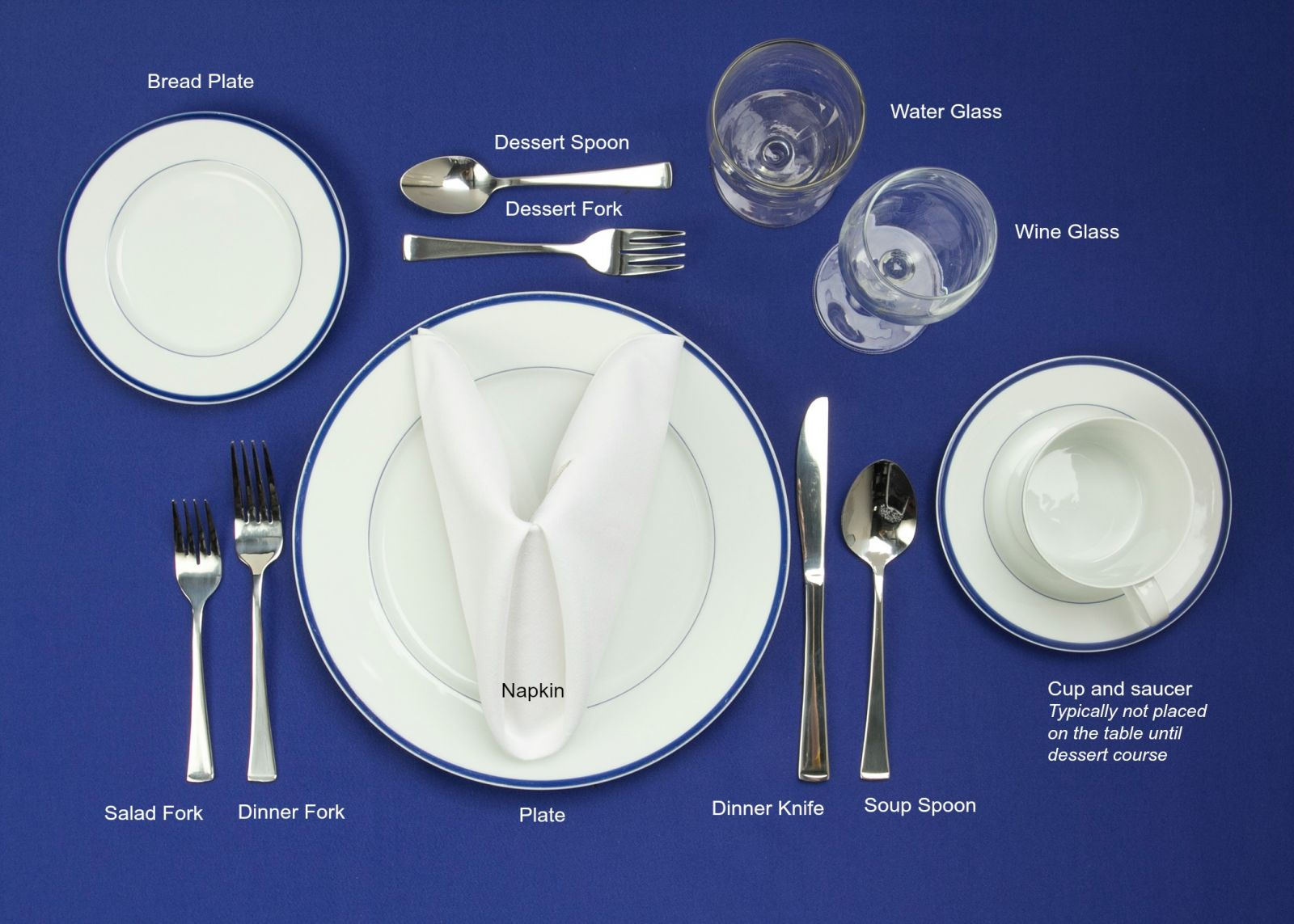 Fancy restaurant table setting - Formal Table Setting