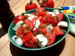 Fresh Tomato Mozzarella Salad 06 22 09 RE Tomato Free for All