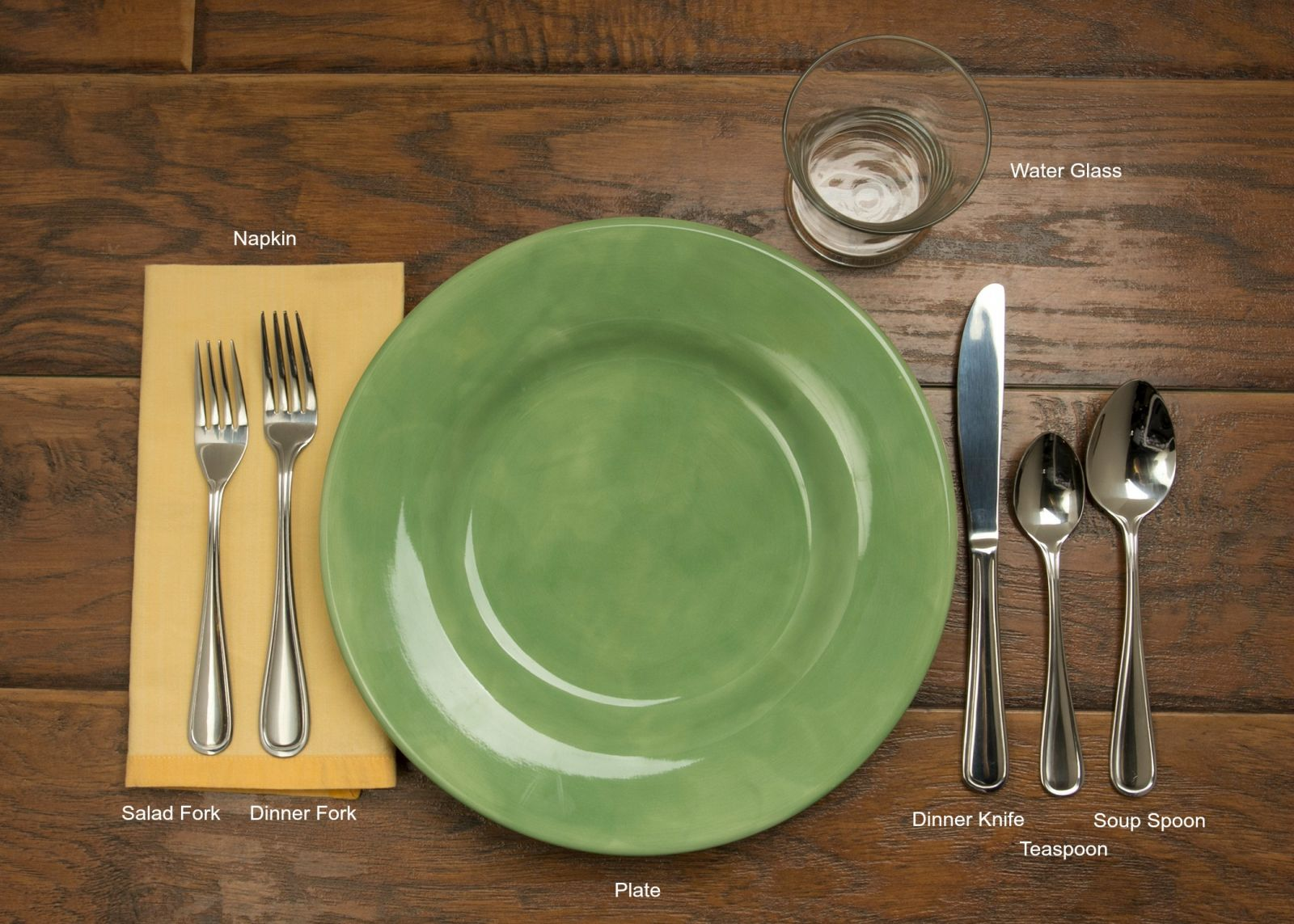 Table setting 101 for Table place setting