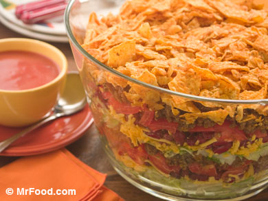 Healthy Ground Beef Recipes: Lighter Stacked Taco Salad