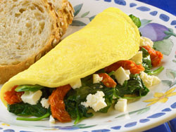 Overstuffed Mediterranean Omelet RE A Very Special Breakfast