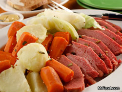 Slow Cooker Corned Beef and Cabbage RE Celebrate St. Paddys Day with Irish Fare
