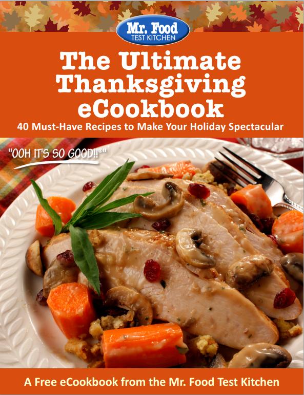 Thanksgiving Cookbook Cover ~ Free mr food holiday ecookbooks mrfood